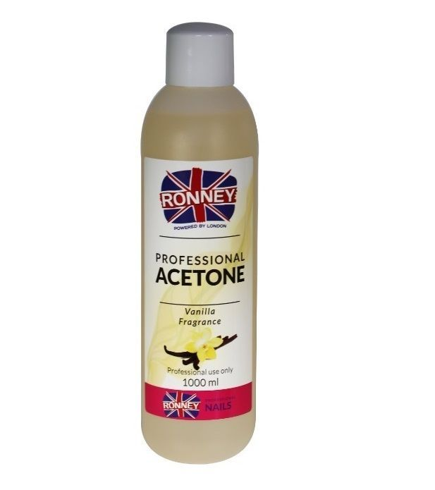Kosmetický aceton, odstraňovač gelu 500ml - vanilka