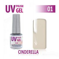 01.UV gel lak na nehty hybridní  CINDERELLA 6 ml (A)