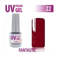 22.UV gel lak hybridní FANTASTIC - tmavá červená 6 ml (A)