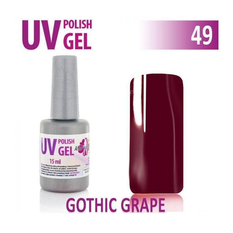 49.UV gel lak na nehty hybridní GOTHIC GRAPE 6 ml