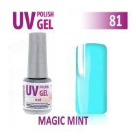 81.UV gel lak na nehty hybridní MAGIC MINT 6 ml (A)
