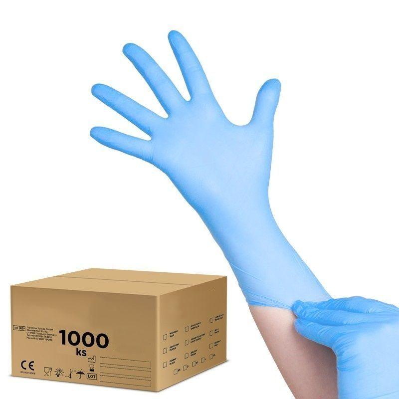 Jednorázové nitrilové rukavice modré - velikost XS - karton 10ks