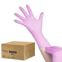 Jednorázové nitrilové rukavice růžové - L - karton 10ks (AS)