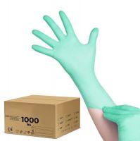 Jednorázové nitrilové rukavice zelené - M - karton 10ks (AS)