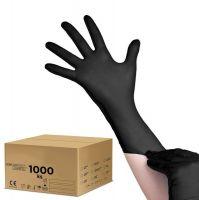 Jednorázové nitrilové rukavice černé - S - karton 10ks (AS)